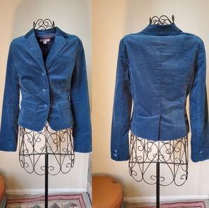 Calvin Klein Blue Teal Velvet Jacket Blazer